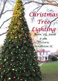 annual christmas tree lighting ceremony town of pendleton
