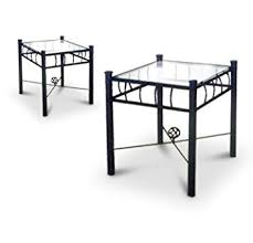 metal and glass end tables amazon com 2 black metal nightstands glass end tables kitchen dining