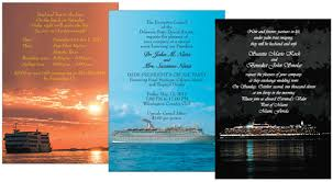 Cruise Wedding Invitations Invitations For A Party On A Cruise Ship