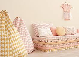 nobodinoz tour de lit coussin neptune roses et miel