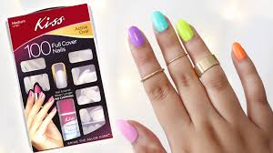 how to apply kiss full cover nails youtube