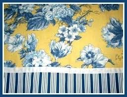 Blue And Yellow Fabric Shower Curtain Waverly Blue And Yellow