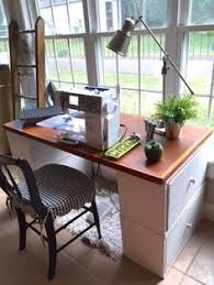 Diy Sewing Desk Make Your Own Desk Or Sewing Table With Things You Might Already