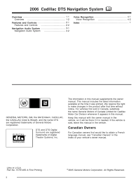 2006 cadillac dts navigation manual general motors computer