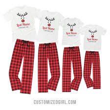 custom rudolph family pajamas who doesn t like matching