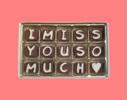 i miss your face large milk chocolate letters long distance