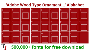 adobe wood type ornaments two font adobe wood type ornaments two