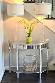 glass mirrored console table foyer decor using pier 1 elegant glass candlestick ls mirrored