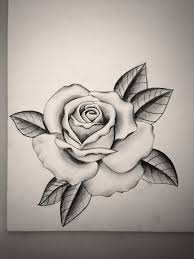 drawn tattoo rose pencil and in color drawn tattoo rose