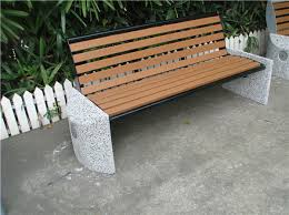 concrete and wood outdoor table recycled plastic wood outdoor concrete stone garden bench park