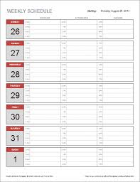 24 Hour Work Schedule Template Excel Free Weekly Schedule Template For Excel