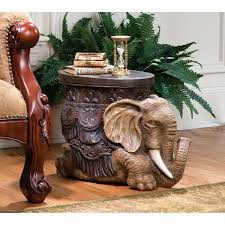 Elephant Side Table Design Toscano The Sultans Elephant Sculptural Side