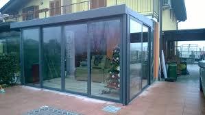 veranda vetro veranda in alluminio con tetto a vetro sa ma serramenti