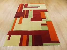 Modern Orange Rugs Red And Green Rugs Roselawnlutheran