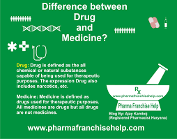 what is the difference between drug and medicine pharma