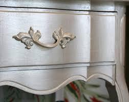 metallic vintage nightstand u2013 themed furniture makeover day