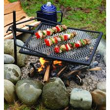 camping campfire bbq grill camp cooking outdoor fire pit oven