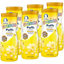 graduates snacks gerber graduates puffs cereal snack banana naturally flavored