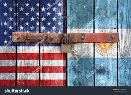 Argentine Flag American Flag Argentine Flag On Background Stock Photo 116708425