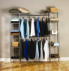 Hanging Closet Shelves by Mainstays Double Hanging Closet Organizer Instructions Home