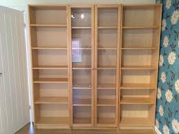billy white bookcase ikea billy large bookcases x 3 in birch veneer great condition