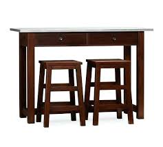 pottery barn bar table kitchen table with stools underneath kgmcharters com