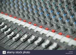 Studio Mixer Desk by Close Up Of A Recording Studio Mixing Desk Stock Photo Royalty
