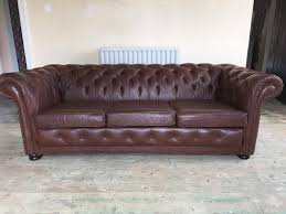 chesterfield sofa beds vintage pegasus brown leather chesterfield sofa in salford