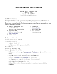 Best Resume Customer Service Representative by Summary For Resume Customer Service Free Resume Example And