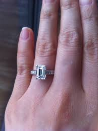 emerald cut engagement rings 2 carat of the week stunning emerald cut engagement ring