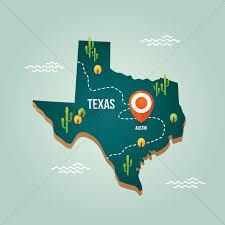 Texas Map Austin Texas Map With Capital City Vector Image 1536670 Stockunlimited