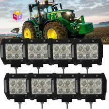 led tractor light bar 8pcs 4 flood work led combine light bar john deere 9400 9500 9600