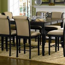 black counter height table set coaster co cabrillo black counter height table with leaf bar pub