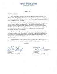 senate military family caucus signs letter to military children