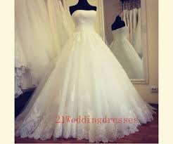 cheap bridal gowns white lace wedding dresses strapless wedding dress