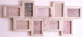 white wood effect multi photo frame shabby chic 9 photos by
