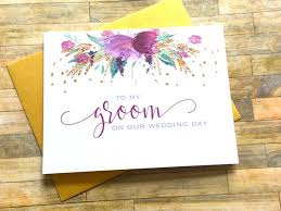 to my groom on our wedding day card my groom on our wedding day card