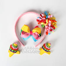 curly ribbon fancy candy baby girl headband hair gift set curly ribbon