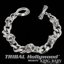 mens bracelet sterling silver images Mens sterling silver bracelets tribal hollywood jpg