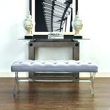 sheepskin bench with lucite legs upholstered bench acrylic legs