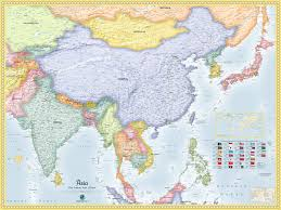South Asia Political Map by Asia Political Wall Map Maps Com