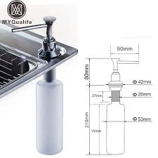 Kitchen Sink Soap Dispenser Brushed Nickel Kitchen Sink Soap Dispenser Bottle Golfocd