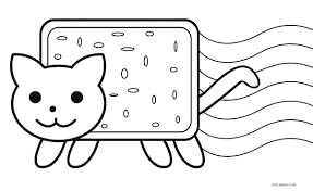 free printable cat coloring pages for kids inside nyan eson me