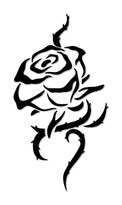 simple tribal rose tattoo tattoos design ideas clip art library