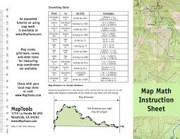 Map Tools Maptools Product Map Math Instruction Sheet