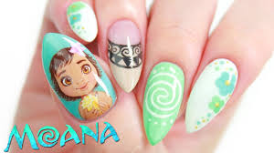 disney u0027s moana nail art design tutorial makeup videos