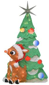 productworks 32 inch pre lit rudolph and tree