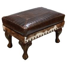 Rock Band Ottoman Western Leather Furniture Cowboy Furnishings From Lones