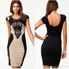 out dresses 2018 khaki out club dresses sleeve lace black