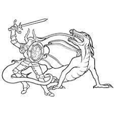 25 free printable dragon coloring pages